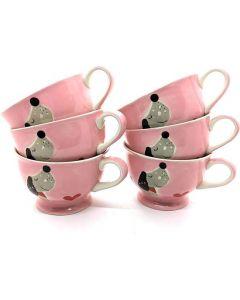 Theekopjes roze (6 stuks)