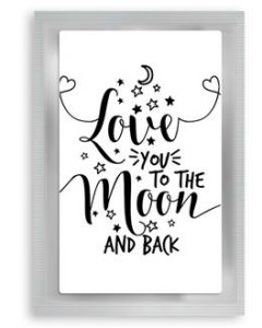 """Theekaart """"Love You to The Moon and Back"""""""