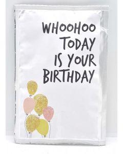 "Theekaart ""Whoohoo Today is Your Birthday"""