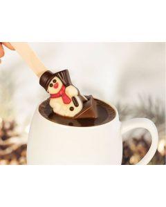 """Chocolade """"sneeuwpop"""" op een stokje"""