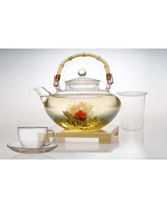Tea for More glazen theepot