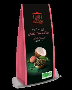 Groene lychee-kokosthee